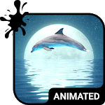 Cover Image of Download Dolphin Animated Keyboard + Live Wallpaper APK
