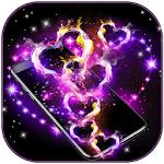 Download Sparkling love hearts Theme Live Wallpaper APK
