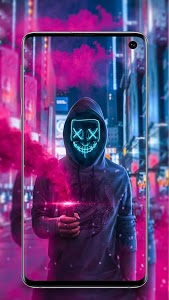 Download Neon Mask Wallpaper Led Purge Mask Wallpaper 4k Apk Android Games And Apps
